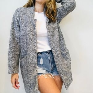 Zara gray soft comfy oversized pea coat